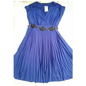 Dresses & Skirts - ROYAL BLUE FLOWY PLUS SIZE DRESS
